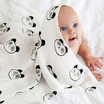 Product photography of baby swadles